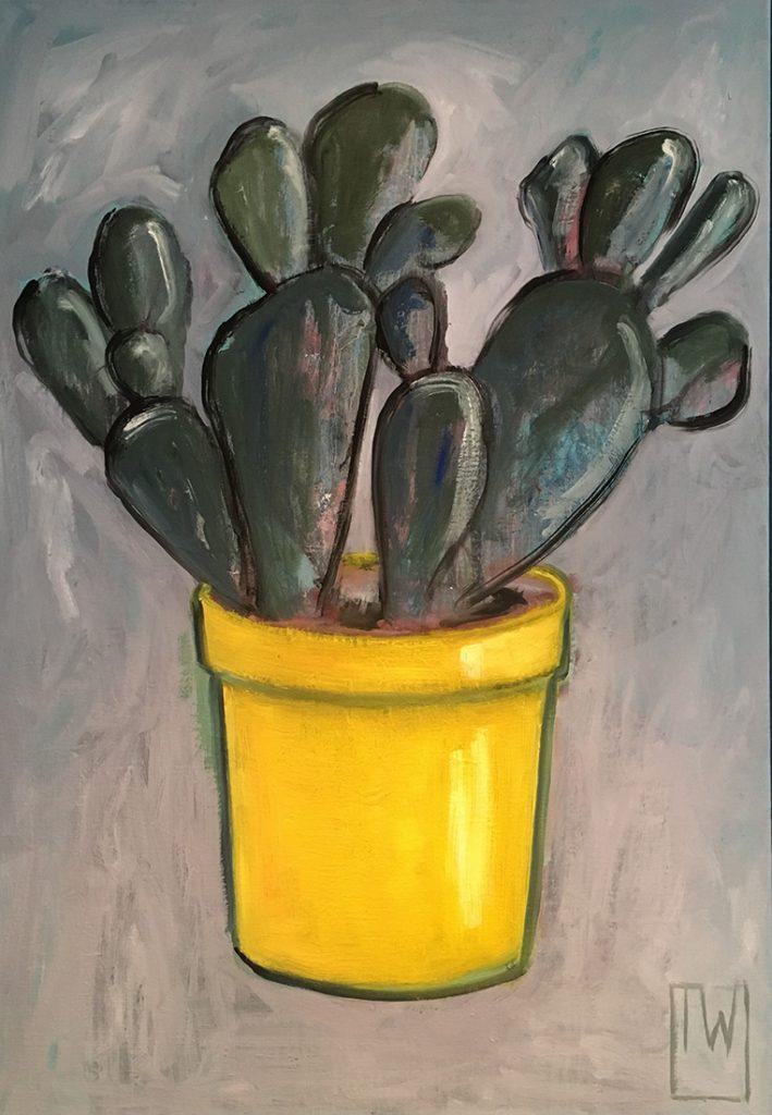 cactus 1 - 70x100 - olie op doek