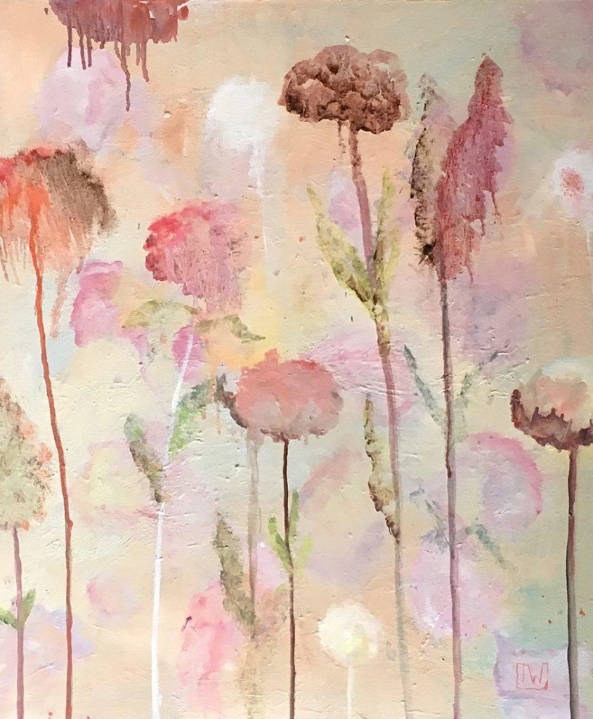 flowerscape nr 1 - 50x60 - olie op doek
