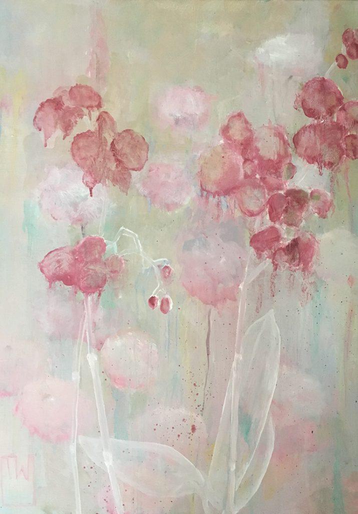 flowerscape nr 4 - 50x70 - olie op doek