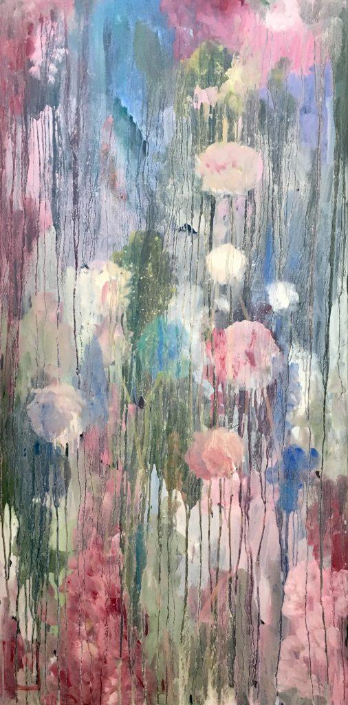 flowerscape nr 7 - 60x120 - olie op doek