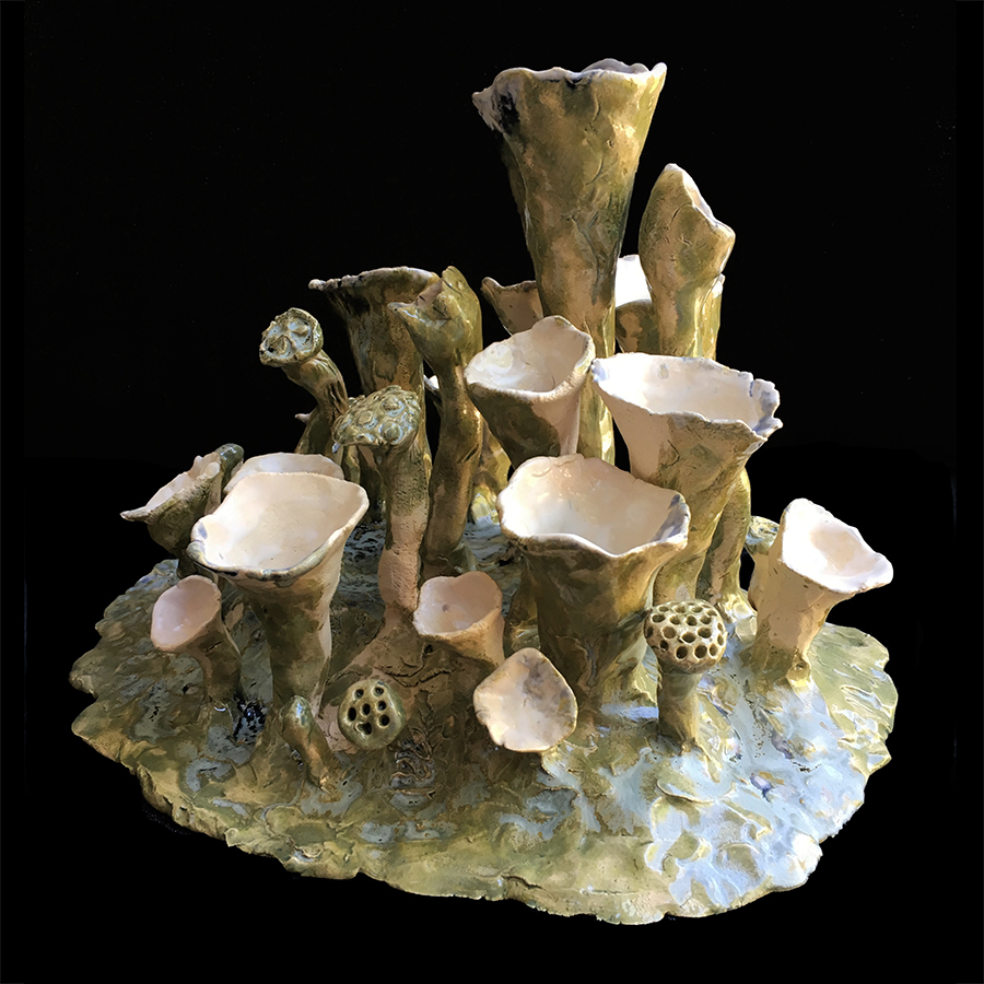 Bekermos groen - 27x20x20 - ceramics